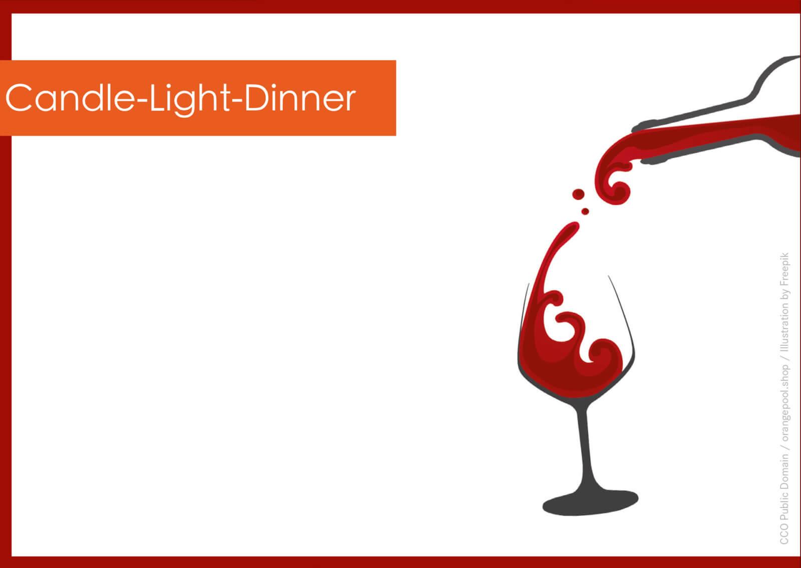 Geschenkgutschein Candle-Light-Dinner - kostenlose Vorlage