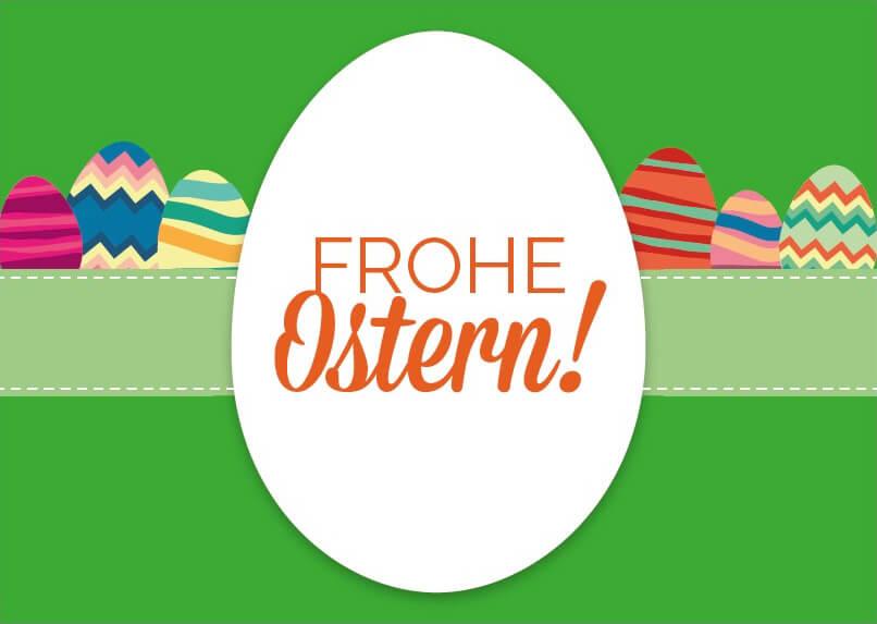 Geschenkgutschein Frohe Ostern Vorderseite