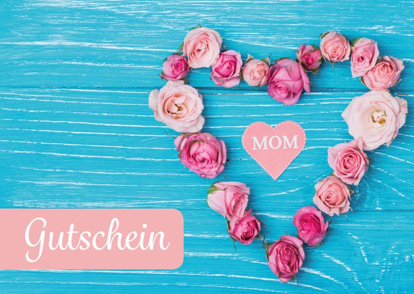 Geschenkgutschein Muttertag - Kostenlose Vorlage zum Download