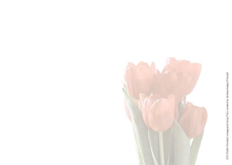 Geschenkgutschein Muttertag Tulpen