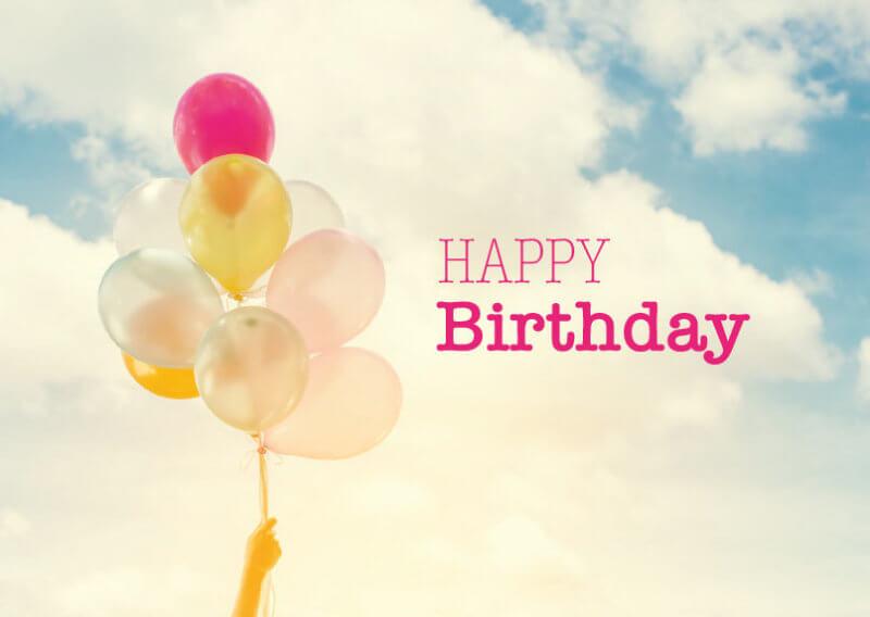 Vorlage Geschenkgutschein Happy Birthday
