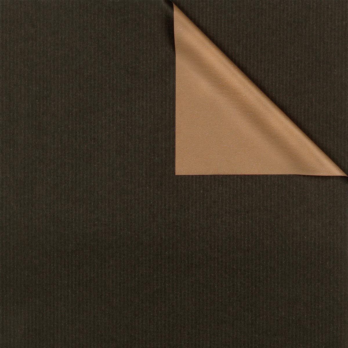 geschenkpapier zweiseitig in farben schwarz und gold. Black Bedroom Furniture Sets. Home Design Ideas